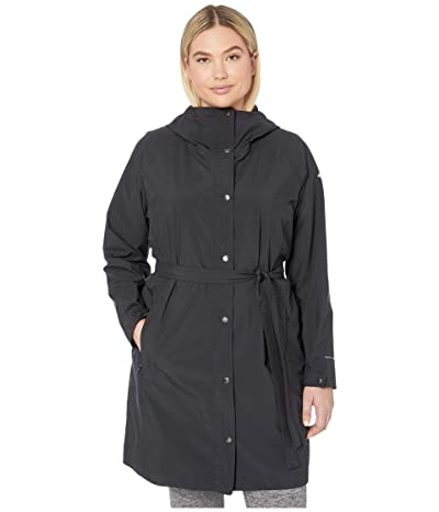 Columbia Plus Size Here and Theretm Long Trench Jacket (Black) Women