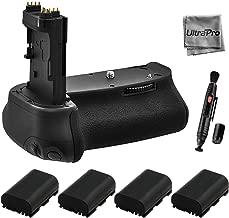 Battery Grip Bundle F/Canon EOS 6D: Includes BG-E13 Replacement Grip, 4-Pk LP-E6 / LP-E6N Long-Life Batteries, UltraPro Accessory Bundle
