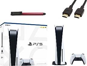 PS5 Sony Playstation 5 Gaming Console Disc Version + 1 Wireless Controller - x86-64-AMD Ryzen Zen 8 Cores, 16GB GDDR6 RAM,...