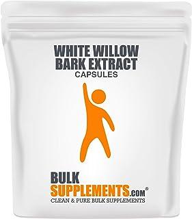 BulkSupplements White Willow Bark Extract 15% Capsules (300 Vegetarian C.