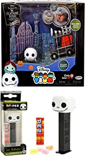 Funko Jack Head Nightmare Before Christmas Pop! Dispenser Bundled with + Gift Set Bundle Jack Skellington Tsum Tsum Exclusive Character Pack Mayor & Faces and moveable car