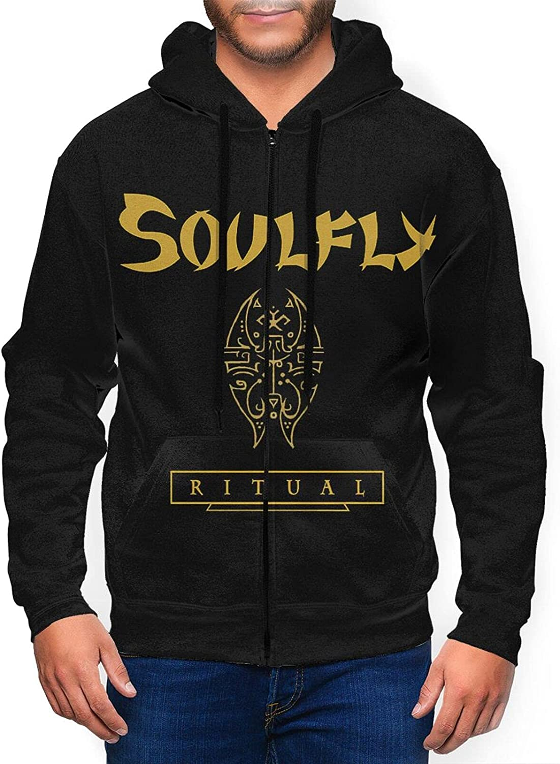 Soulfly Credence Men'S Hooded Zipper Shirt Coat Classic Casual Colorado Springs Mall Jacket