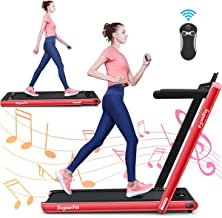 GYMAX 2 in 1 Under Desk Treadmill, 2.25HP Folding Walking Jogging Machine with Dual..