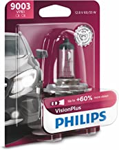Philips 9003 VisionPlus Upgrade Headlight Bulb with up to 60% More Vision