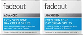 Fade Out Advanced Even Skin Tone Day Cream with SPF25 2 x 50ml - Face Cream With Niacinamide and Lactic Acid to Brighten S...
