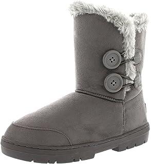 comprar comparacion Mujeres Doble Button totalmente alineada botas piel impermeable de la nieve del invierno