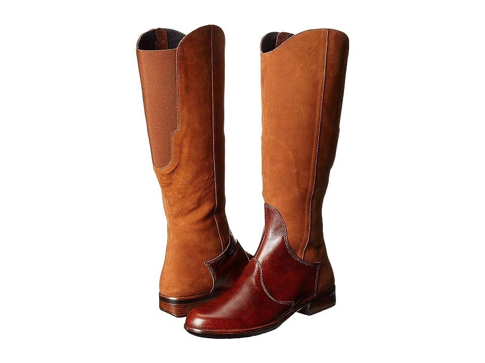 Naot Shamal (Hawaiian Brown Nubuck/Luggage Brown Leather) Women