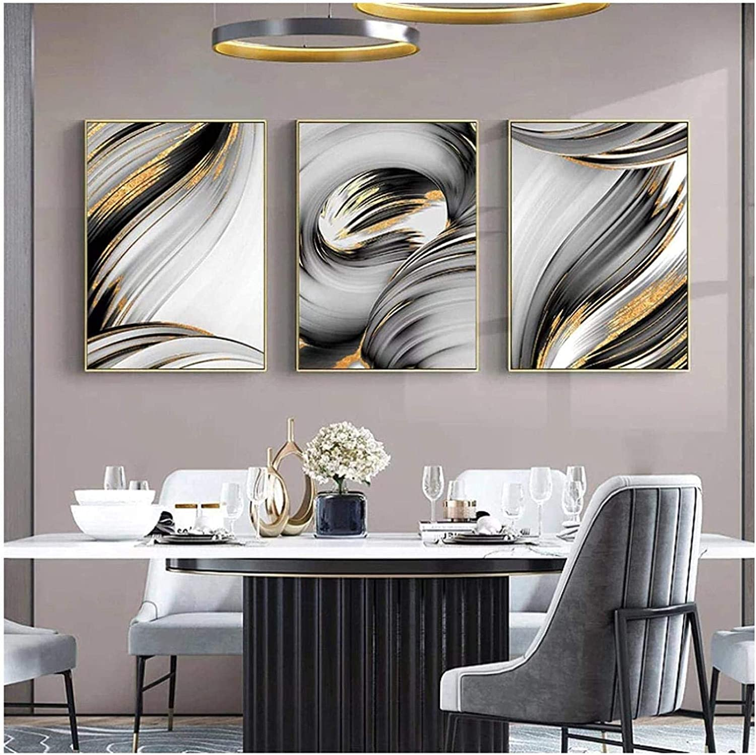 Poster Artworks 3 Piece 11.8x19.7in 30x50cm 2021new shipping free Abstract Frame No Attention brand B