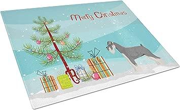 Caroline's Treasures CK3559LCB Schnauzer Christmas Tree Glass Large Cutting-Boards, 12H x 16W, Multicolor