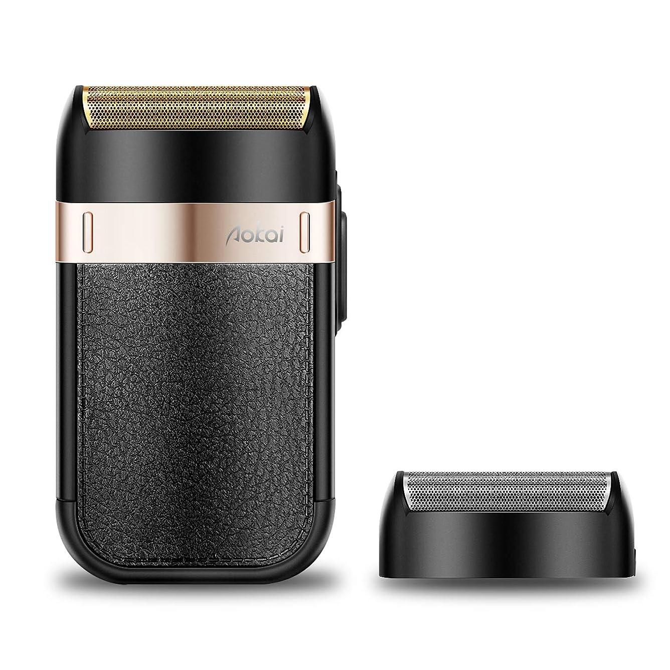 獣電話返還メンズシェーバー 充電·交流式 髭剃り 電気シェーバー 往復式 携帯ひげそり モバイル 防水基準 USB充電式 コンパクト 旅行用