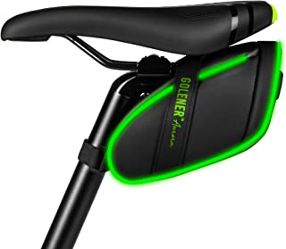Golener Bike Saddle Bag, Bike Bag Under Seat with Led Light Strips, Waterproof Durable Bike Seat...