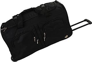 Rolling Duffel Bag, Black, 36-Inch