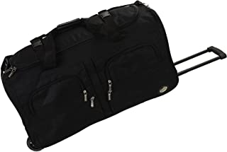 Rockland Luggage 36 Inch Rolling Duffle Bag, Black, Large