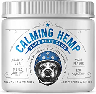 Sponsored Ad - SAFE PETS CLUB Calming Treats for Dogs with Anxiety - Hemp Dog Treats for Calming - 120 Duck-Flavored Soft ...