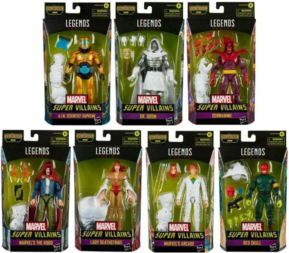 Hasbro Marvel Legends Super Villains 6-Inch Action Figures Wave 1 Case of 7...