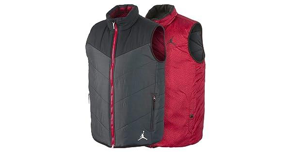 Nike Jordan Ele Padded Vest Update Black//Red 623483-010 SIZE: M