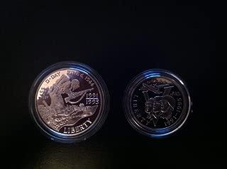 1993 World War II 50th Anniversary Coin Set w/ aire-tite cases