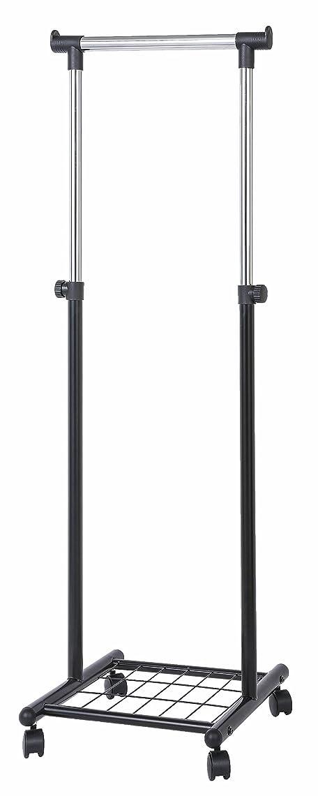反対にデュアルどれでも太パイプ スリム ハンガーラック ( キッズハンガー 兼用 )幅:約45cm 高さ調節可能 隙間 ハンガー 【 金属製 ネット 棚 付き 】