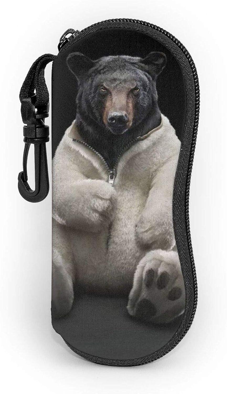 Glasses Case Daily bargain sale bear. Soft Portable Light Neoprene Bag National products Eyeglasses