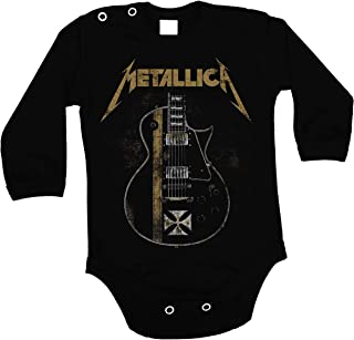 Lulchev Design Baby Body Metallica Guitar Hetfield Iron Cross Langarm