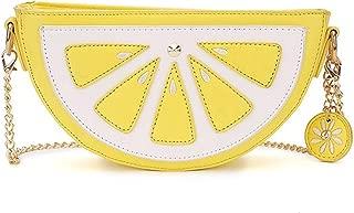 Haolong Women Lemon and Watermalon Versatile Pu Leather Clutch Purse Cross Body Bag