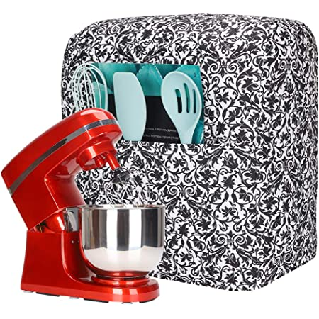 Stand Mixer Covers Compatible with 6-8 Quart KitchenAid Mixer, Fits All Tilt Head Models, Mixer Covers with Exquisite Pattern and Pockets
