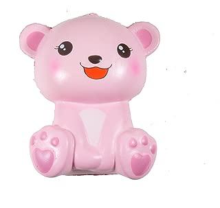 Puni Maru's Jumbo Happy Polar Bear Squishy Pink Open Mouth Happy