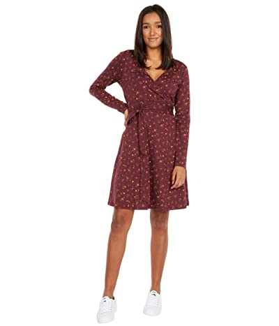 Toad&Co Cue Wrap Long Sleeve Dress (Port Painter