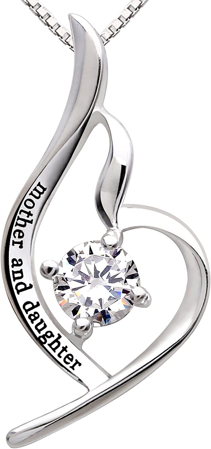 ALOV Jewelry Sterling Silver Mother Zirconia Excellent New York Mall Cubic Daughter and