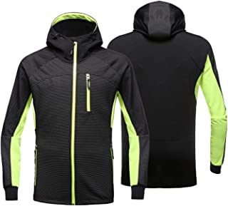 Men's Windproof Cycling Jacket with Hood Waterproof Windbreaker Warm Outdoor Sports Coat