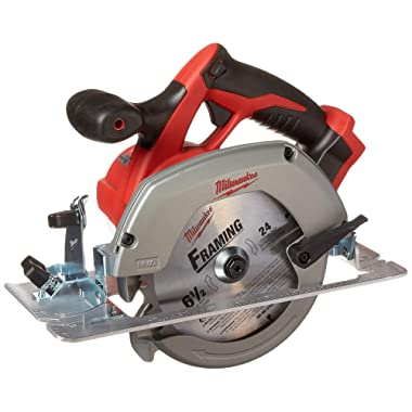 Milwaukee M18 2630-20 18 Volt Lithium Ion 6-1/2  3,500 RPM Cordless Circular Saw w/ Magnesium Guards and Included 24-Tooth Carbide Wood Cutting Blade(Bare Tool)