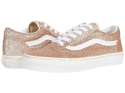 Vans Kids Old Skool (Big Kid) ((Glitter) Brazilian Sand/True White) Girls Shoes