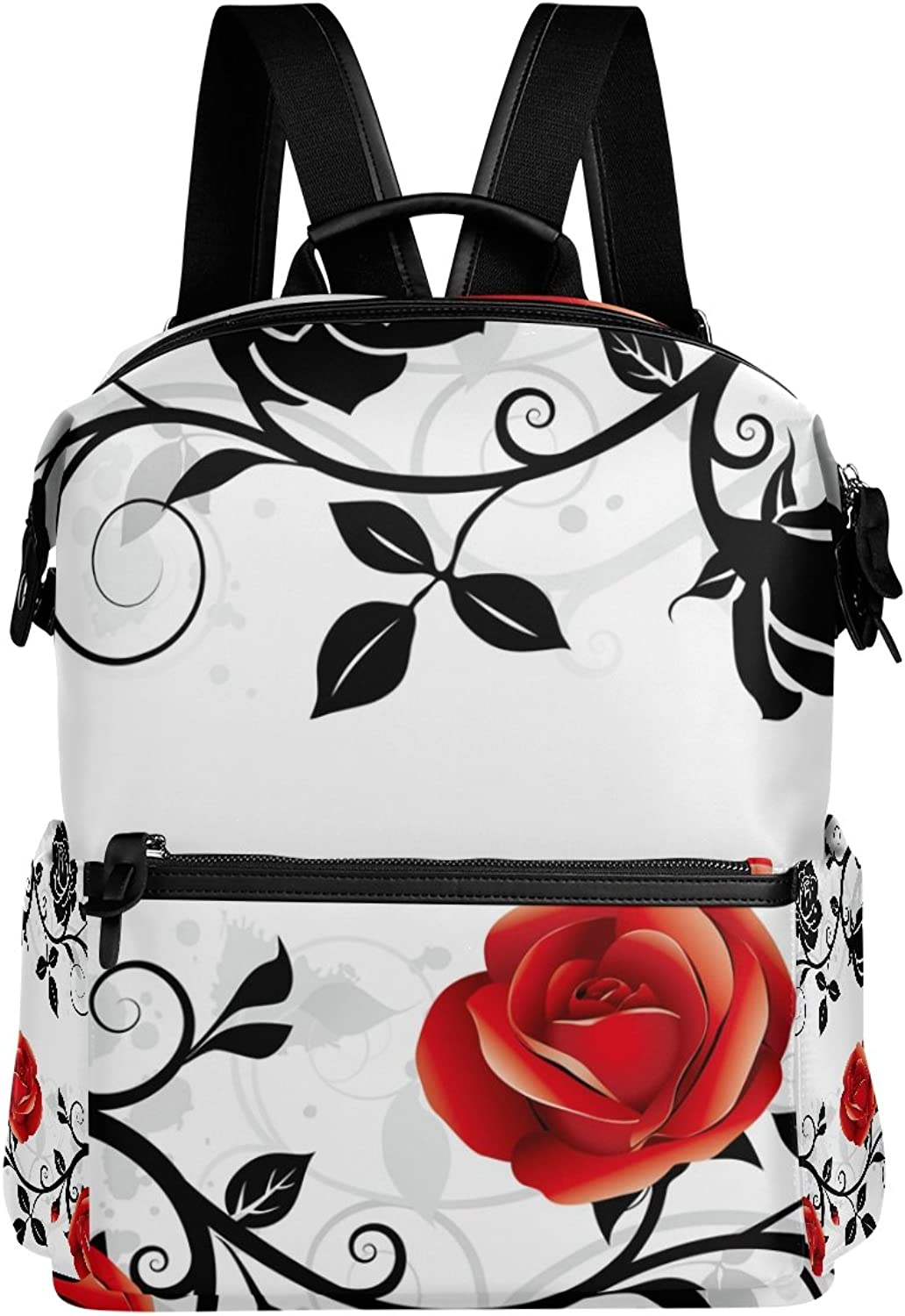 LORVIES Ornament with pinks School Rucksack Travel Backpack