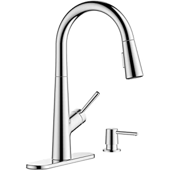 Hansgrohe 1 Handle 17 Inch Tall Kitchen Faucet With Pull Down Sprayer With Quickclean In Chrome 04749005 Amazon Com