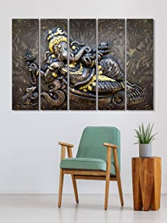 999Store home decoration items stylish living room painting frames for living room Lord Ganesha wall art panels hanging pa...