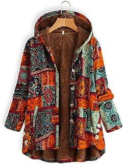Women Fashion Floral Print Zipper Bomber Jacket Outwear Coat ZEFOTIM Womens Winter Warm Coat