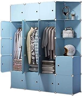 Garde-robe XINYALAMP Armoire Portable Chambre à Coucher Maison Combinaison Armoire Tissu Art Art Space Spave Simple Armoir...