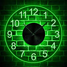 The Geeky Days Arabia Numbers Modern Simple LED Lighting Acrylic Wall Time Clock with..