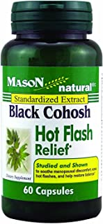MASON NATURAL, Black Cohosh 40 Mg Hot Flash Relief Capsules - 60 Ea