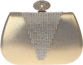 akaddy Sac /à main de soir/ée femme embrayage Sac /à main de mode diamant diamant strass