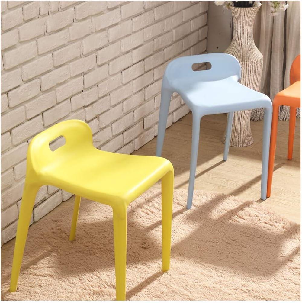 Tabouret de Bar Plastique, Tabouret Créatif Élégant de Petit-déjeuner Adulte Chaise Portable, pour Cuisine, Restaurant, Café, Bar(Size: 35 * 33 * 55.5CM) (Couleur : A) G