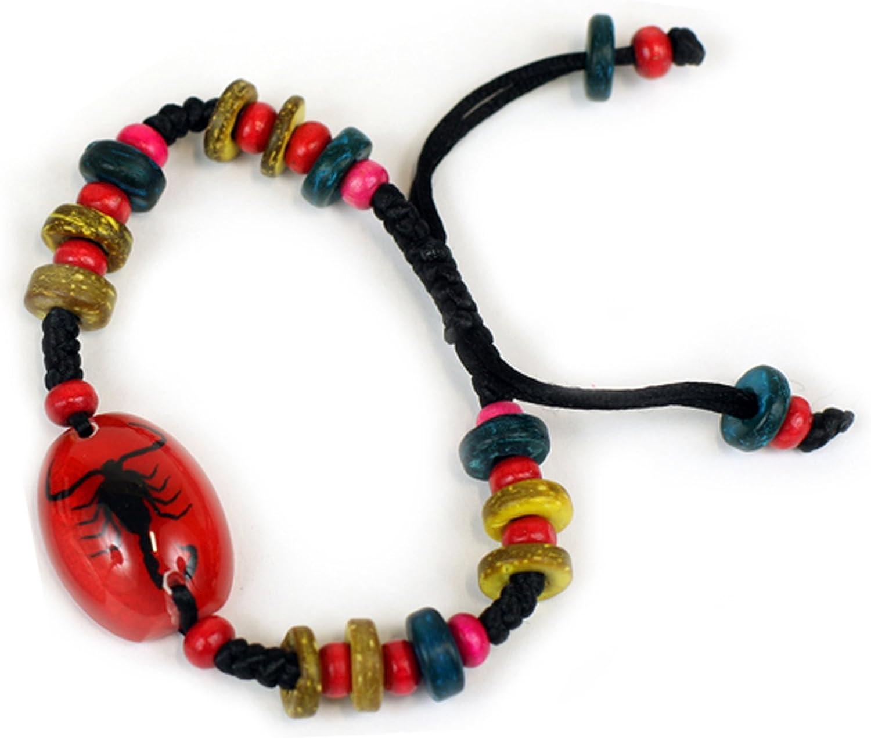 REALBUG Black Scorpion Bracelet, Red