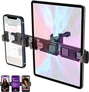 DK177 3 Seats Expandable Phone Clip, Phone Stand Clip for Photography/Vlogging/Live Streaming, Used on Tripod Stand & Phon...