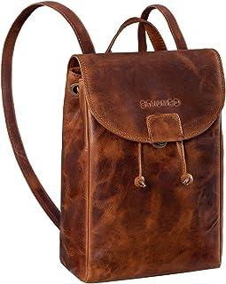 STILORD 'April' Daypack Damen Leder City Backpack Tagesrucksack Frauen Rucksack klein Echtleder Vintage Design