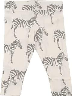 MilkBarn Organic Cotton Infant and Toddler Leggings Grey Zebra
