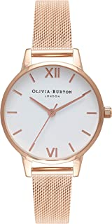 Olivia Burton Womens Quartz Watch, Analog Display and Stainless Steel Strap OB16MDW01