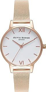 Olivia Burton Womens Analogue Quartz Watch with Stainless Steel Strap OB16MDW01