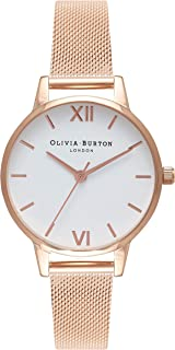 Olivia Burton Womens Analogue Quartz Watch with Stainless Steel Strap OB16MDW01