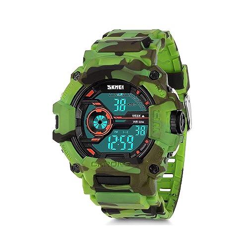 Kauo - Reloj Deportivo para niños (Impermeable, Alarma Digital, para niños de 7