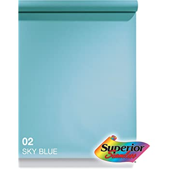 Superior Seamless Photography Background Paper, 02 Sky Blue (53 inches Wide x 36 feet Long)